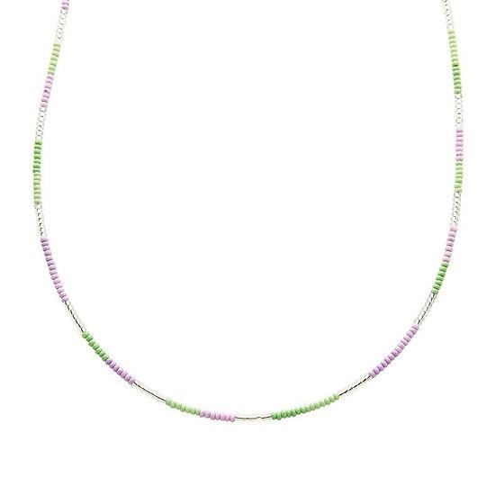 Ketting Biba Indian Summer (zilverkleurig/paars/groen)