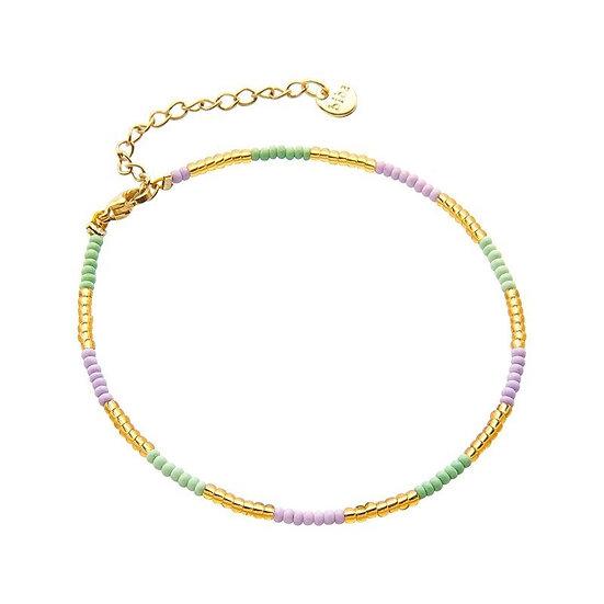 Armband Biba Indian Summer (goudkleurig/paars/groen)