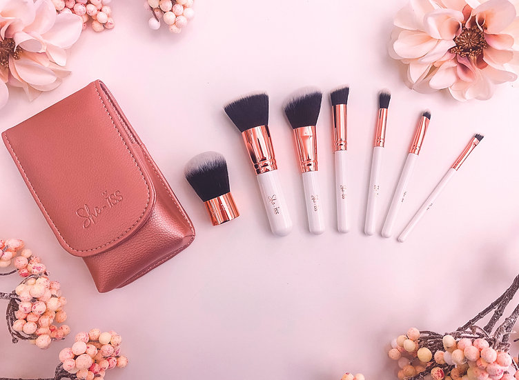 7pc Travel Brush Set (She-Iss)