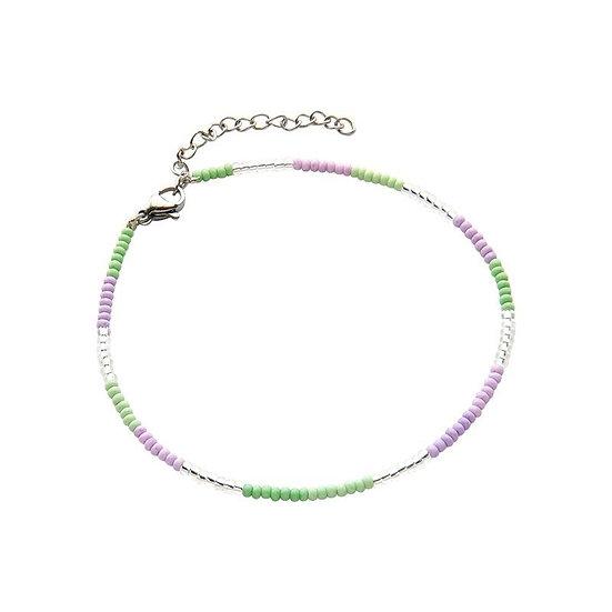 Armband Biba Indian Summer (zilverkleurig/paars/groen)