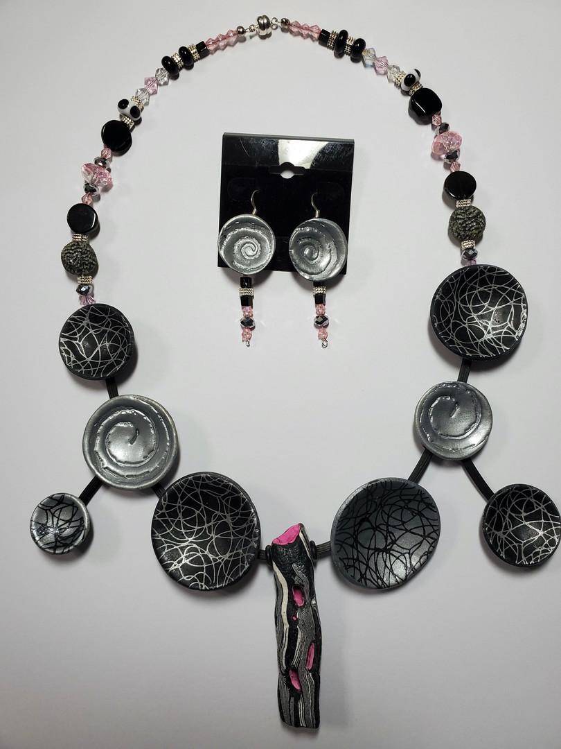 Silver Spirals Necklace
