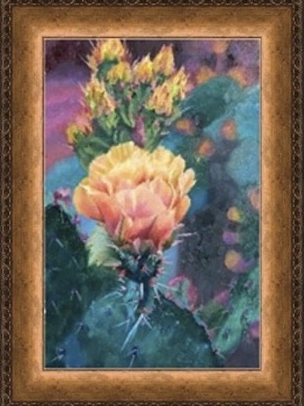cactus bloom, desert flower, framed giclee, home decor