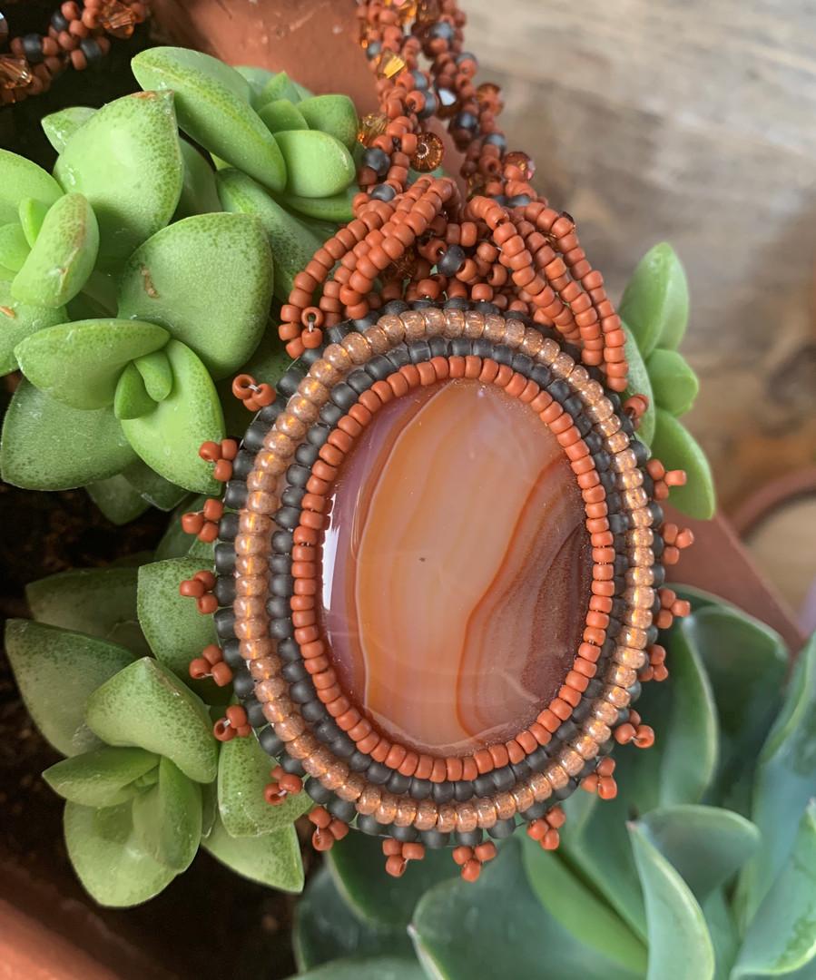 Carnelian Beaded Necklace