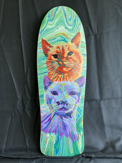 cats, commission, skateboard