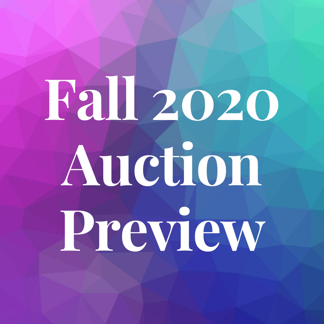 Fall 2020 Auction Prview