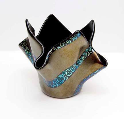 Dancing Swirls Vase