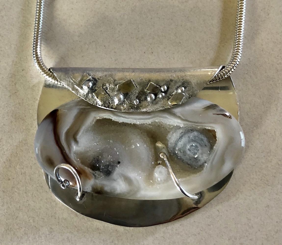 Folded Druzy Pendant