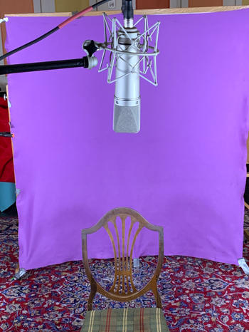 The singer's hot seat.