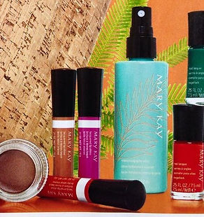 Mary Kay Paradise Calling, Tropical Mandarin Collection, Moisturising Spray Lotion, Whipped Eye Colour, Nail and Lip Shine Lacquers