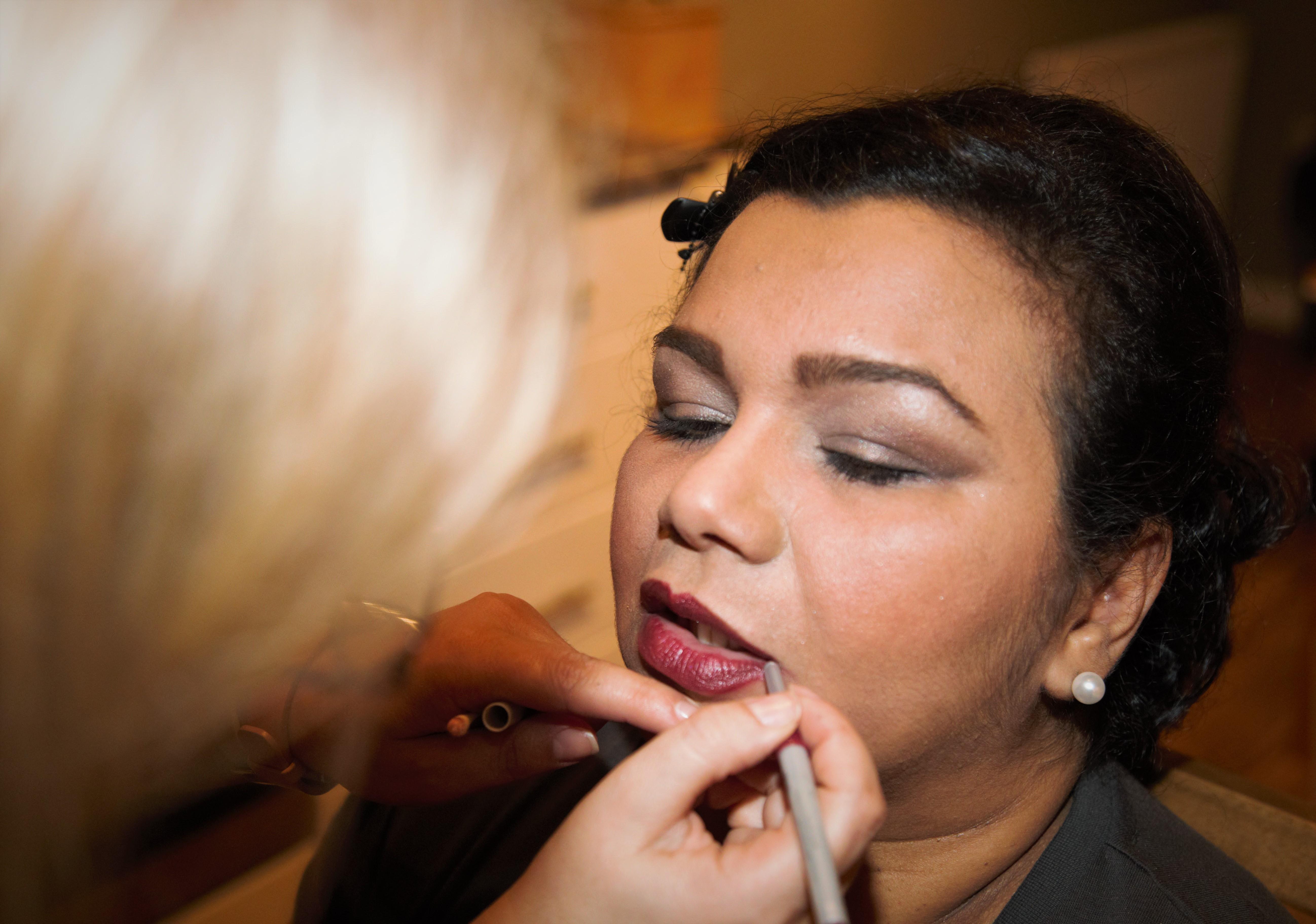 Sandi's make-up artist
