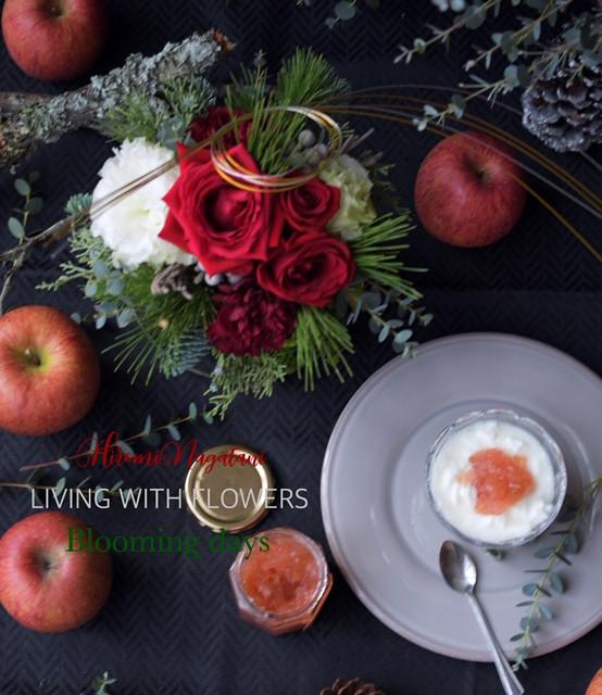 Flower styling 紅玉ジャム
