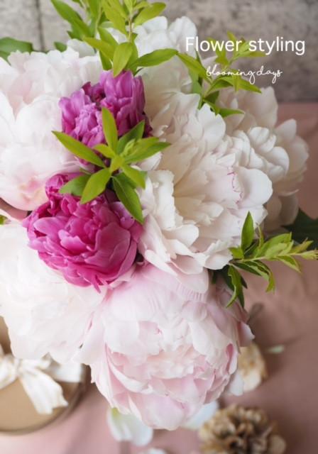 Flower styling 花のある暮し 芍薬