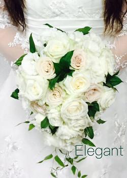 Elegant 白とブーケのキャスケード