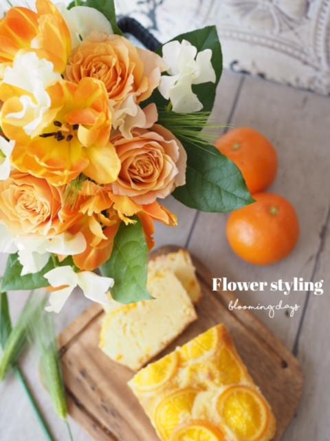 Flower styling  花のある暮らし 青麦