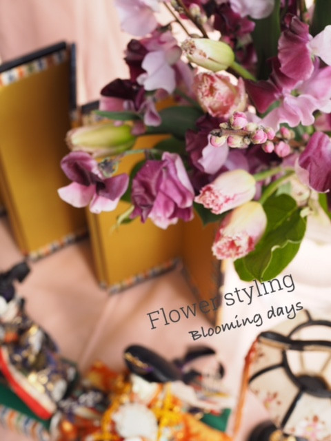 Flower styling 花のある暮し 桃の花