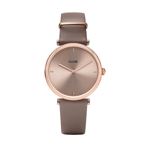 CLUSE Triomphe Rose Gold Taupe/Taupe Leather