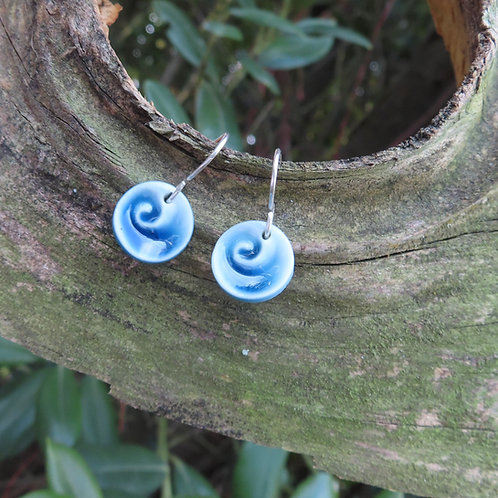 Spiral Porcelain Earrings