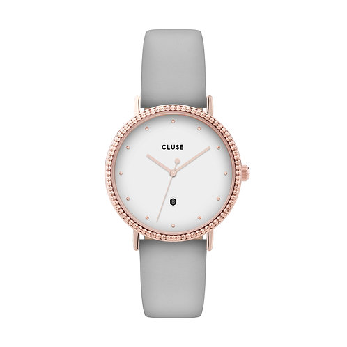 CLUSE Le Couronnement Rose Gold White / Soft Grey Watch