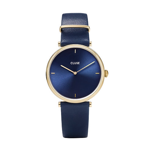 CLUSE Triomphe Gold Blue/Blue Leather