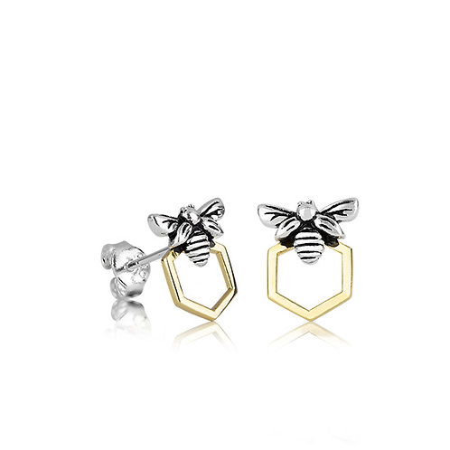 3E40017 Honey Bee Studs