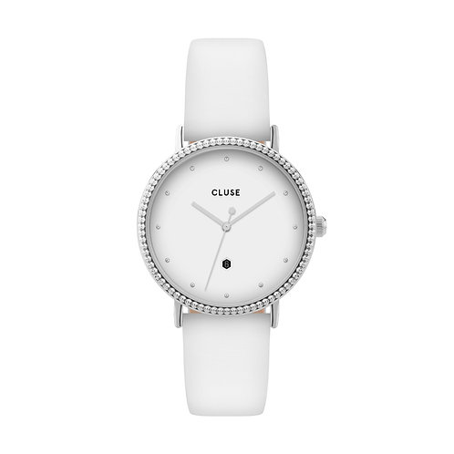 CLUSE Le Couronnement Silver White / White Watch