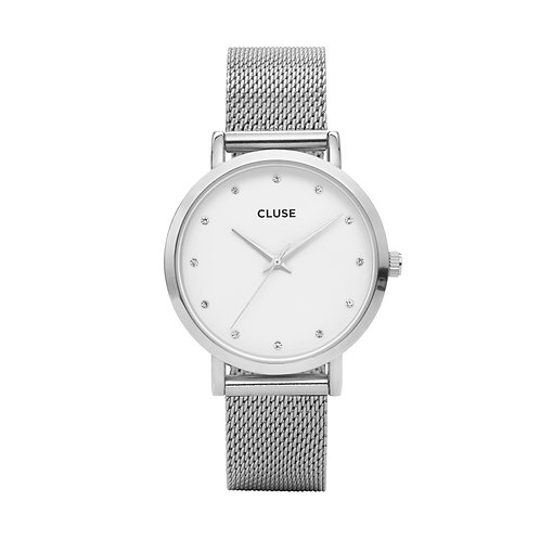 CLUSE Pavane Silver Stones Mesh Watch