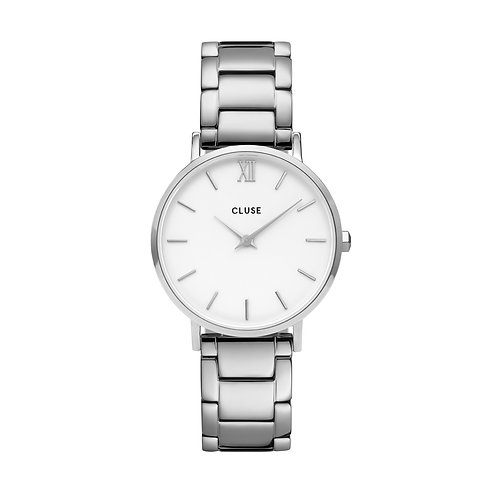 CLUSE Minuit Silver White/Silver Link