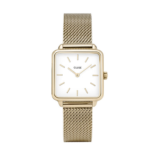 CLUSE La Tetragone Gold Mesh / White Watch