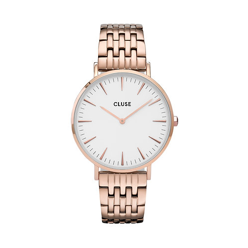 CLUSE La Boheme Rose Gold White/Rose Gold Link