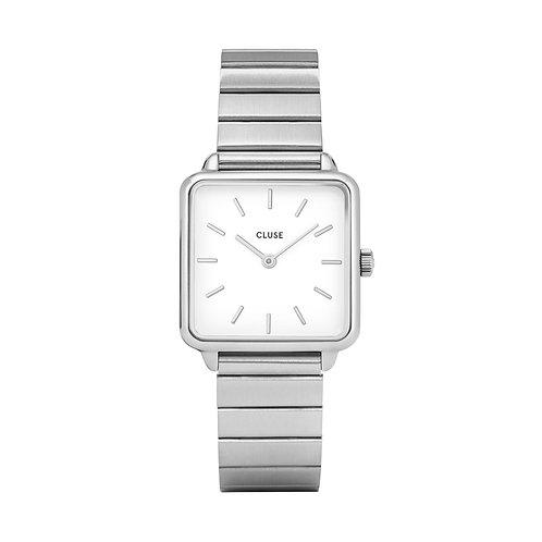CLUSE La Tetragone Single Link Silver/White Watch