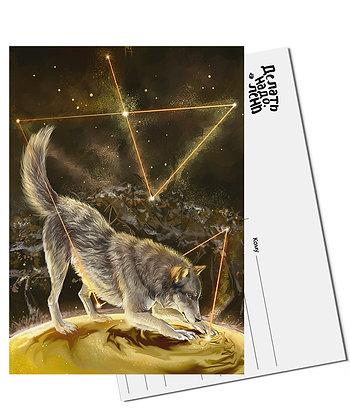 Открытка Волк