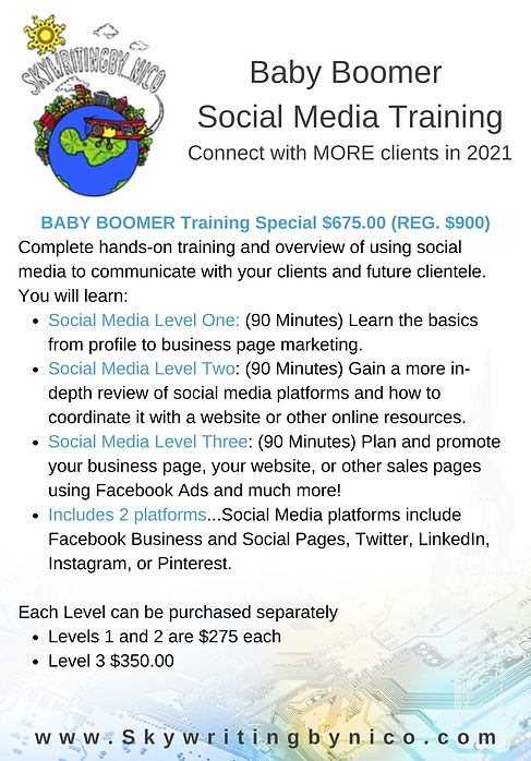 Baby Boomer Social Media Training for we