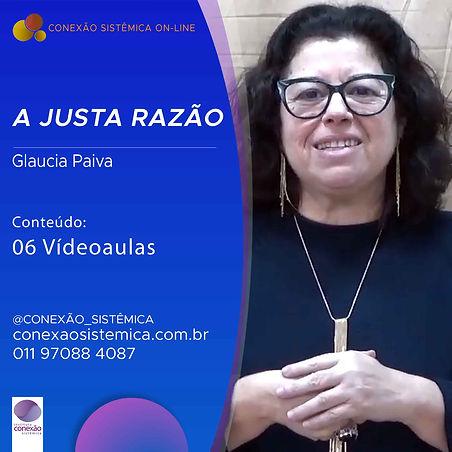 CAPA GLAUCIA PAIVA A JUSTA RAZÃO - LEADL