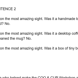 Copywriting Example Internal Newsletter_