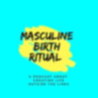 Masculine Birth Ritual Logo With Subtitl
