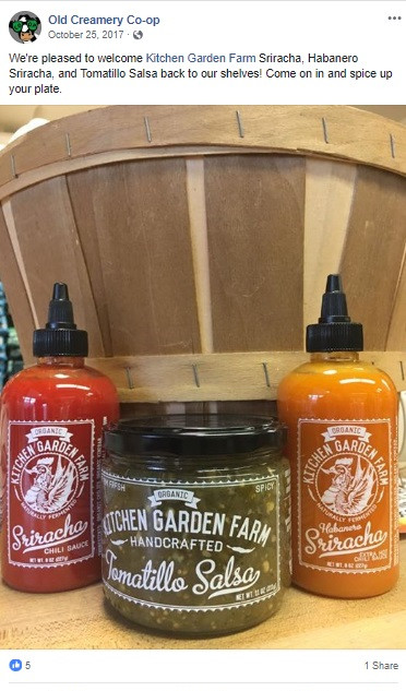Kitchen Garden Farms FB Products Campaign