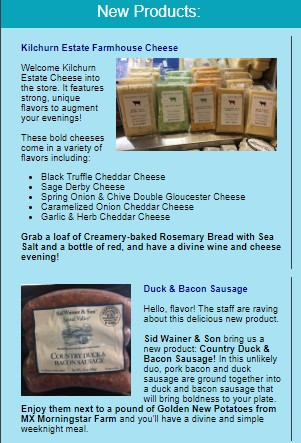 Creamery New Products Newsletter Promo