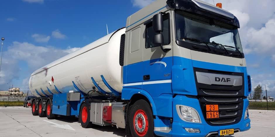 Vrachtwagen van transportondernemer
