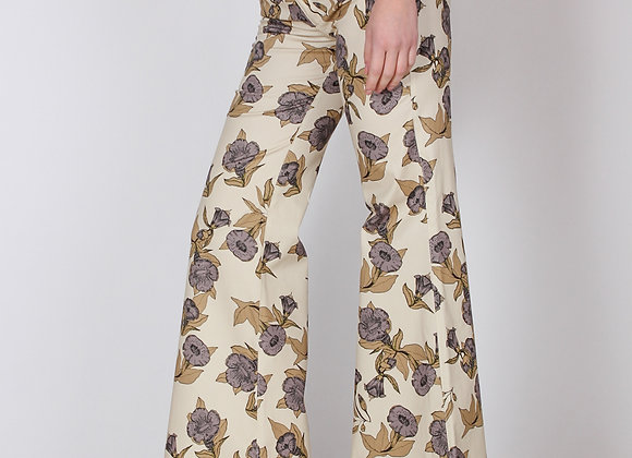 Pantaloni SONICE fantasia beige