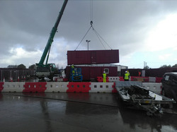 2nd Storey lifted into place site offices
