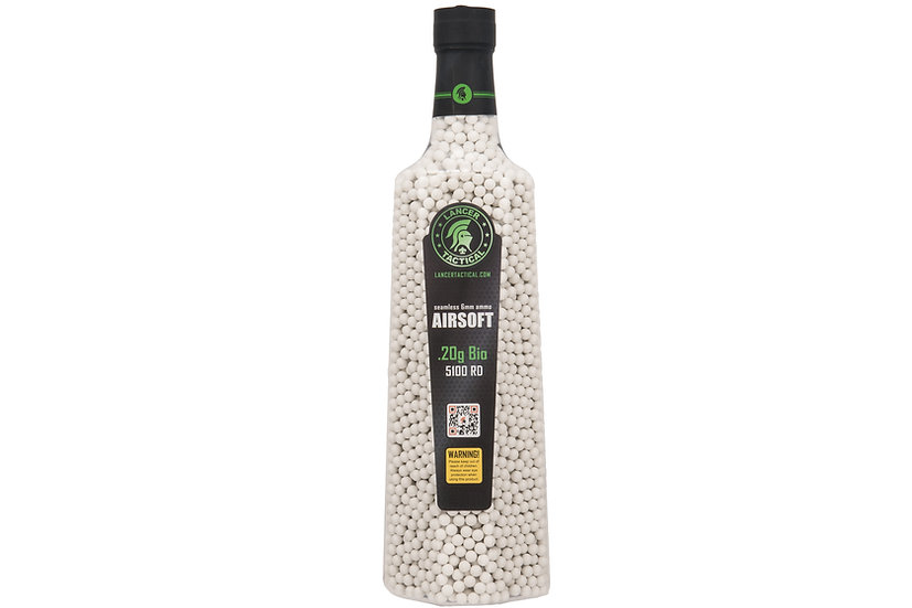 Lancer Tactical 5100 Round 0.20g Bio Airsoft BBs (Color: White)