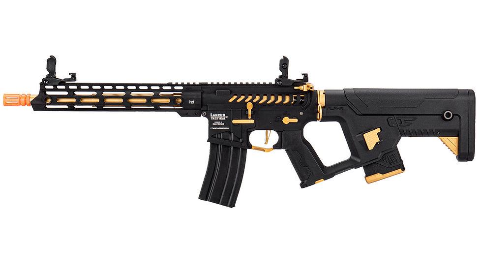 Lancer Tactical Enforcer BLACKBIRD Skeleton AEG w/ Alpha Stock - GOLD