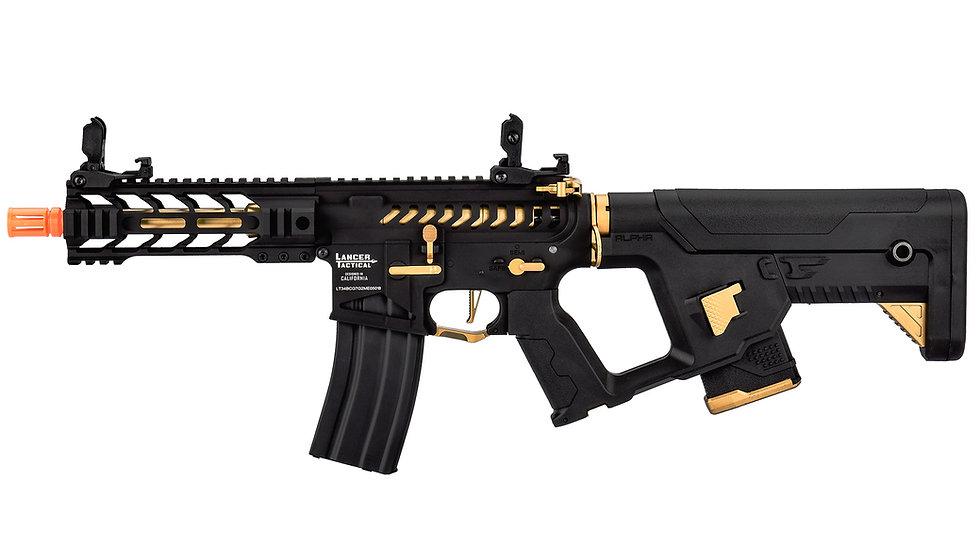 """Lancer Tactical Enforcer BATTLE HAWK 7"""" Skeleton AEG w/ Alpha Stock - GOLD"""