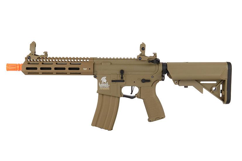 """Lancer Tactical LT-32TA8-G2-E 8"""" Hybrid Gen 2 M4 Airsoft AEG (Tan)"""