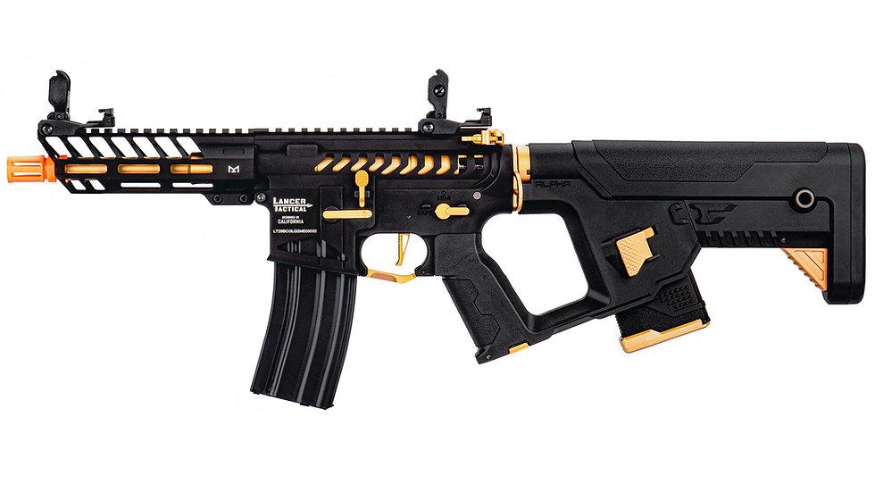 Lancer Tactical Enforcer NEEDLETAIL Skeleton AEG w/ Alpha Stock - GOLD