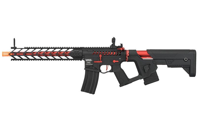 Lancer Tactical Enforcer NIGHT WING Skeleton AEG [HIGH FPS] (BLACK + RED)