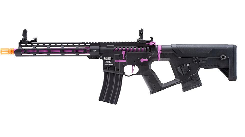 Lancer Tactical Enforcer Blackbird Skeleton AEG w/ Alpha Stock (Black/Purple)