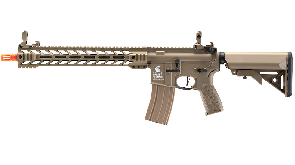 "Lancer Tactical Enforcer Battle Hawk 14"" Hybrid Series M4 AEG (Tan)"