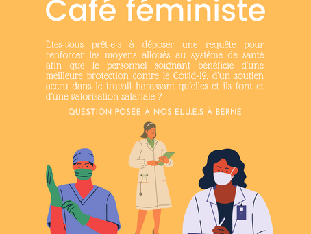 Café féministe : valorisation des métiers de soins