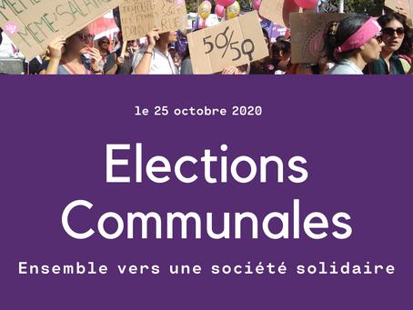 Elections communales 2020 - Ensemble vers une société solidaire